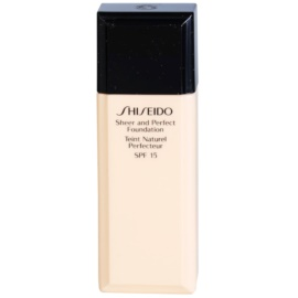Shiseido Base Sheer and Perfect make up lichid  SPF 15 culoare I 20 Natural Light Ivory 30 ml