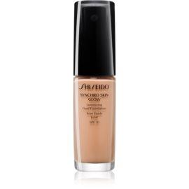 Shiseido Makeup Synchro Skin Glow Luminizing Fluid Foundation posvetlitvena podlaga SPF 20 odtenek Rose 4 30 ml