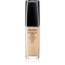 Shiseido Makeup Synchro Skin Glow Luminizing Fluid Foundation posvetlitvena podlaga SPF 20 odtenek Golden 2 30 ml