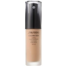 Shiseido Synchro Skin dolgoobstojen tekoči puder SPF 20 odtenek Golden 4 30 ml