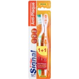 Signal Anti-Plaque zobne ščetke medium 2 ks