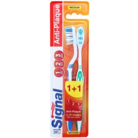 Signal Anti-Plaque medium fogkefék 2 db   kupak
