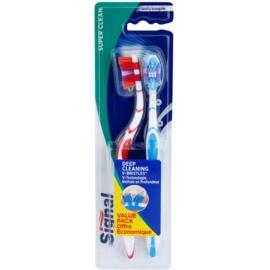 Signal Super Clean escovas de dentes média 2 pçs