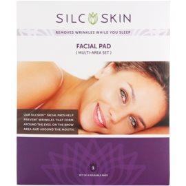 SilcSkin Facial Pad almofadinha de silicone contra rugas nas zonas de testa, olhos e boca  4 un.