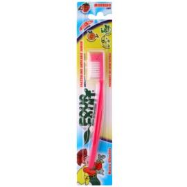 SilverCare Four Fruit Strawberry illatos fogkefe gyermekeknek gyenge