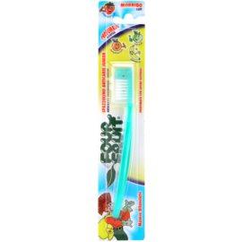 SilverCare Four Fruit Green Apple zubní kartáček pro děti s vůní soft