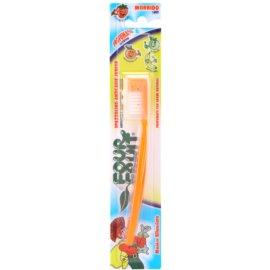 SilverCare Four Fruit Orange illatos fogkefe gyermekeknek gyenge