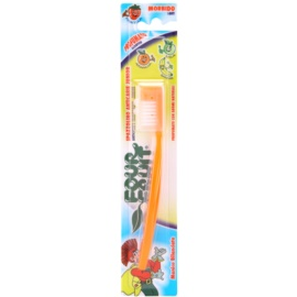 SilverCare Four Fruit Orange cepillo de dientes para niños con aroma suave
