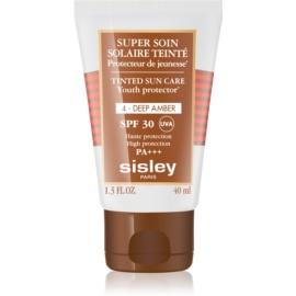 Sisley Sun zaščitna tonirana krema za obraz SPF 30 odtenek 4 Deep Amber  40 ml
