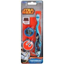 SmileGuard Star Wars zubní kartáček pro děti s cestovní krytkou a klíčenkou soft
