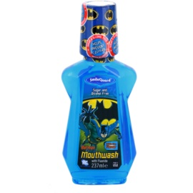 SmileGuard Batman apa de gura pentru copii cu flor aroma Bubble Gum (Sugar and Alcohol Free) 237 ml