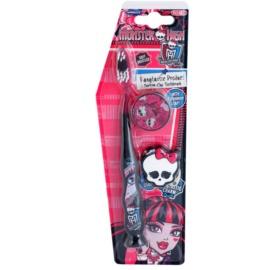 SmileGuard Monster High zubní kartáček pro děti s cestovní krytkou a klíčenkou soft