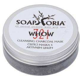 Soaphoria Organic reinigende Maske mit Aktivkohlepulver  50 ml