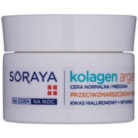 Soraya Collagen & Argan feuchtigkeitsspendende Creme gegen Falten mit Hyaluronsäure  50 ml