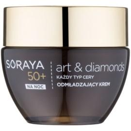 Soraya Art & Diamonds подмладяващ нощен крем с диамантен прах 50+  50 мл.