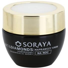 Soraya Art & Diamonds crema regeneradora de noche para renovación celular de la piel 60+  50 ml