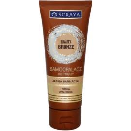 Soraya Beauty Bronze samoopalovací krém na obličej pro světlou pleť  75 ml