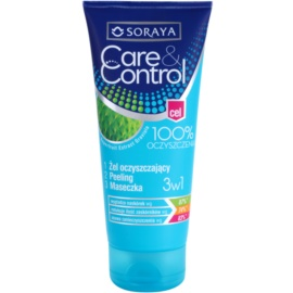 Soraya Care & Control очищуючий гель 3 в 1 проти акне  150 мл