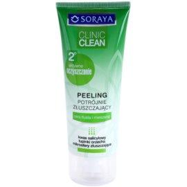 Soraya Clinic Clean čisticí peeling pro zářivý vzhled pleti  75 ml