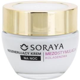 Soraya Collagen Mesostimulation regenerierende Nachtcreme gegen Falten 40+  50 ml