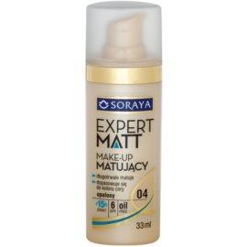Soraya Expert Matt dlouhotrvající matující make-up SPF 6 odstín 04 Tanned 33 ml