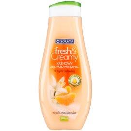 Soraya Fresh & Creamy krémes tusoló gél tápláló hatással méz és mandarin  500 ml