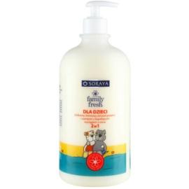 Soraya Family Fresh Duschgel & Shampoo 2 in 1 für Kinder mit Extrakt aus Hafer  1000 ml