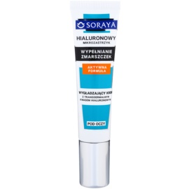 Soraya Hyaluronic Microinjection crema antirid pentru zona ochilor cu acid hialuronic  15 ml