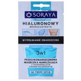 Soraya Hyaluronic Microinjection protivrásková hydratačná maska s kyselinou hyalurónovou  2 x 5 ml
