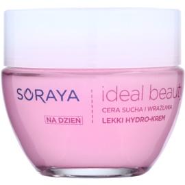 Soraya Ideal Beauty crema hidratante ligera  para pieles secas y sensibles  50 ml
