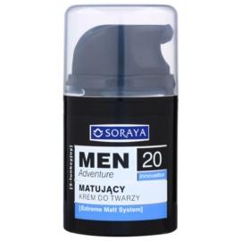 Soraya MEN Adventure 20+ mattierende Creme mit feuchtigkeitsspendender Wirkung für Herren  50 ml