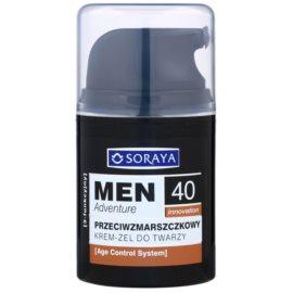 Soraya MEN Adventure 40+ Gel-Creme gegen Falten für Herren  50 ml