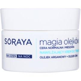 Soraya Magic Oils creme hidratante para pele normal a mista  50 ml