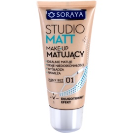 Soraya Studio Matt matující make-up s vitamínem E odstín 01 Light Beige  30 ml