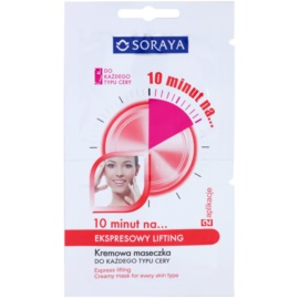 Soraya 10 Minutes швидка ліфтингова маска для всіх типів шкіри  2 x 5 мл