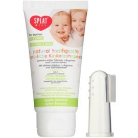Splat Baby Naturzahnpasta für Kinder mit Massagebürste Geschmack Apple/Banana 40 ml