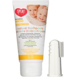 Splat Baby натурална детска паста за зъби с масажна четка за зъби вкус Vanilla 40 мл.