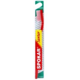 Spokar Jantar escova de dentes dura Red