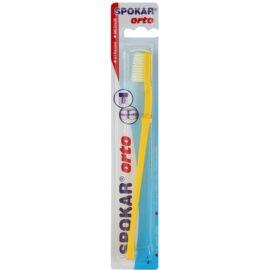 Spokar Orto зубна щітка для власників брекет - систем середньої жорсткості Yellow