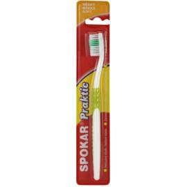 Spokar Praktic escova de dentes soft  Green