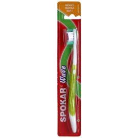 Spokar Wave zubní kartáček soft Green