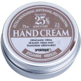 Sportique Wellness Jasmin and Hibiscus výživný krém na ruce  75 ml