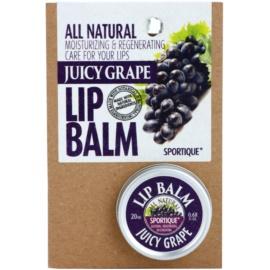 Sportique Wellness Juicy Grape bálsamo de lábios  20 ml