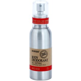 Sportique Wellness Wild Rose desodorante natural en spray  100 ml