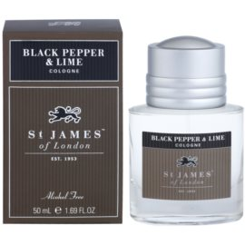 St. James Of London Black Pepper & Persian Lime Eau de Cologne for Men 50 ml