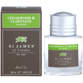 St. James Of London Cedarwood & Clarysage Eau de Cologne für Herren 50 ml