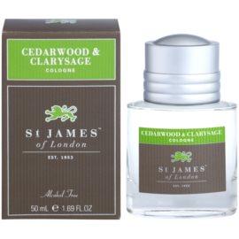St. James Of London Cedarwood & Clarysage kolínská voda pro muže 50 ml