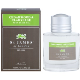 St. James Of London Cedarwood & Clarysage Aftershave gel  voor Mannen 100 ml