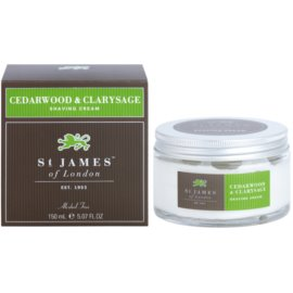 St. James Of London Cedarwood & Clarysage Rasiercreme für Herren 150 ml