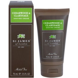 St. James Of London Cedarwood & Clarysage Shaving Cream for Men 75 ml